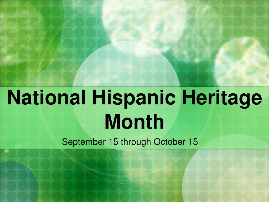 national hispanic heritage month l.