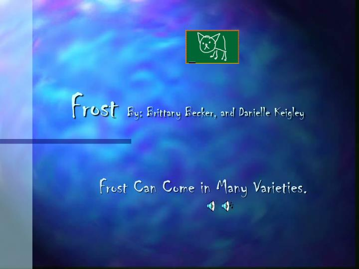 Frost by brittany becker and danielle keigley