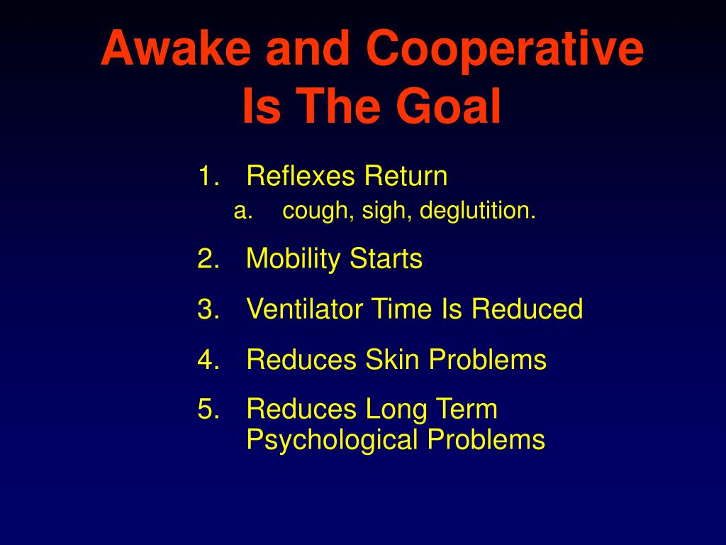 Awake and Cooperative Is The Goal