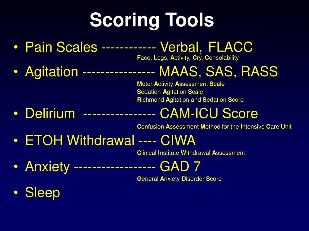 Scoring Tools