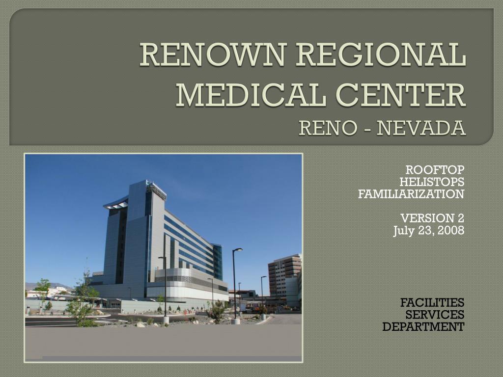 renown regional medical center reno nevada l.