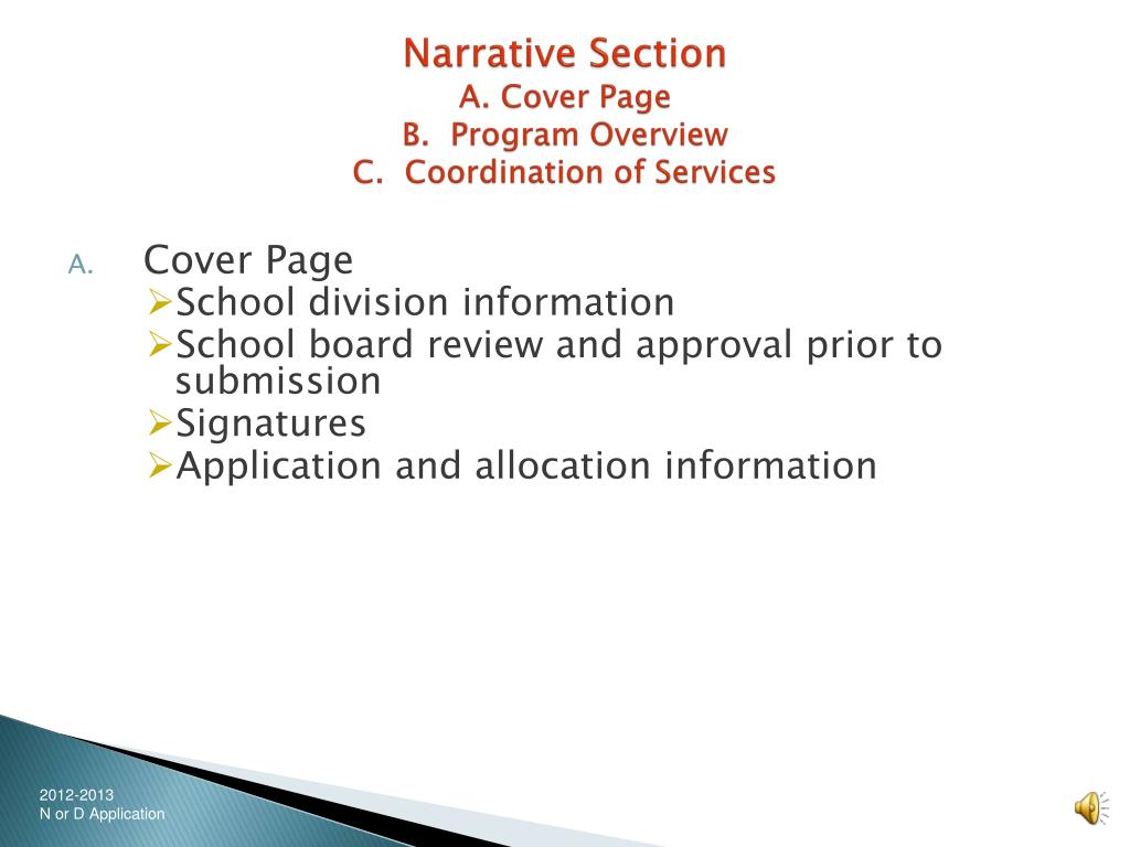 Narrative Section