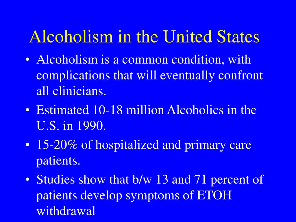 Alcoholism in the United States