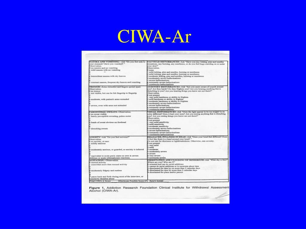 CIWA-Ar