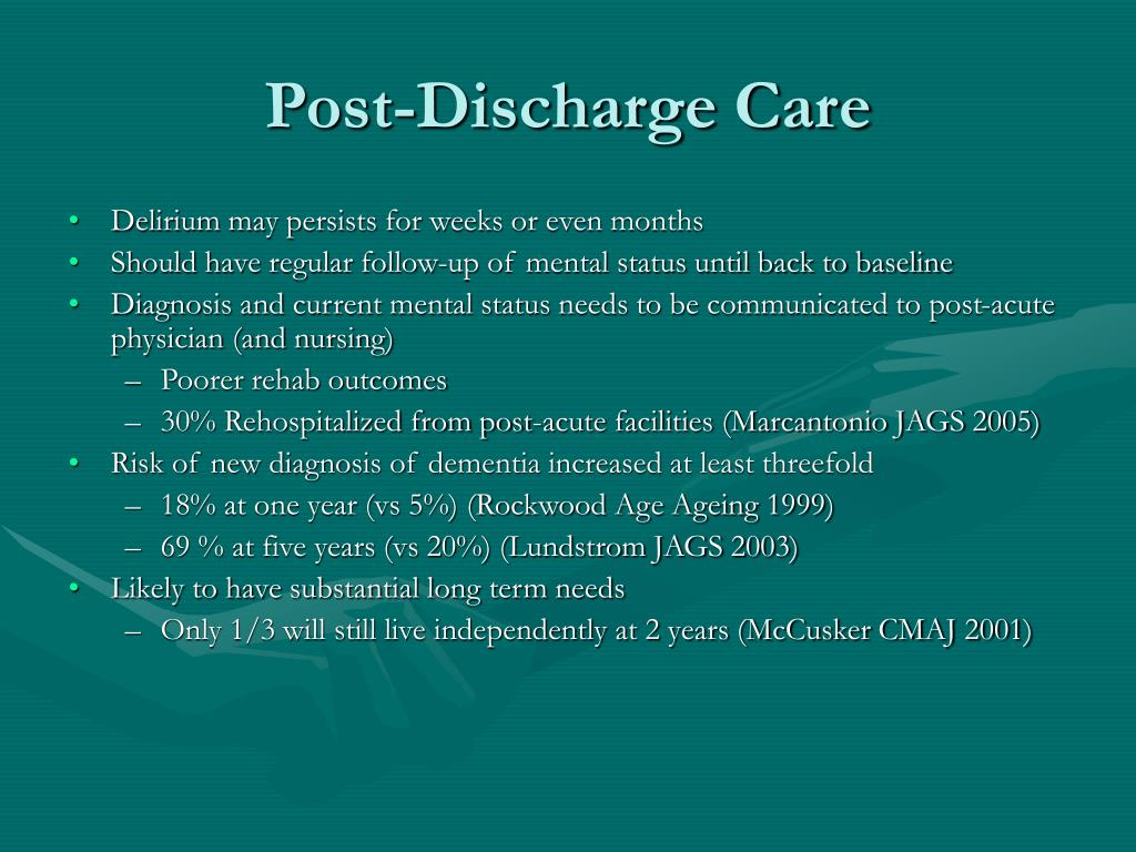 Post-Discharge Care