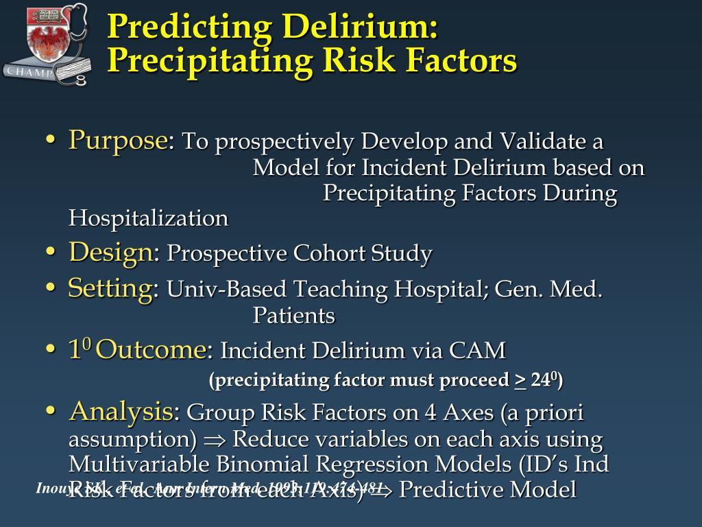 Predicting Delirium:
