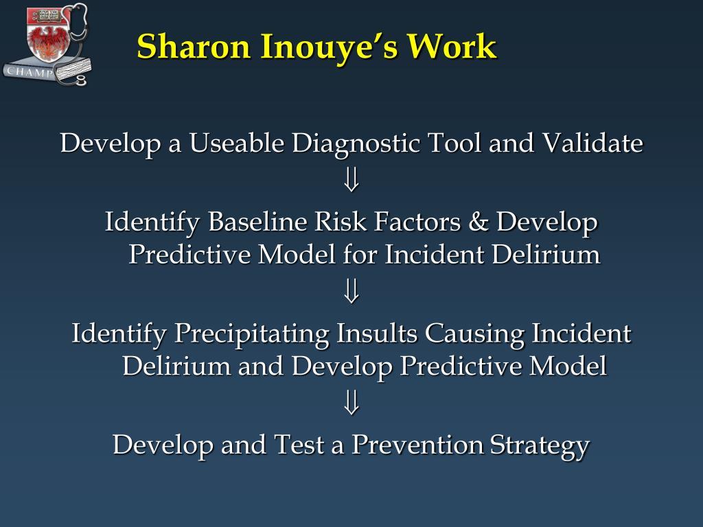 Sharon Inouye's Work