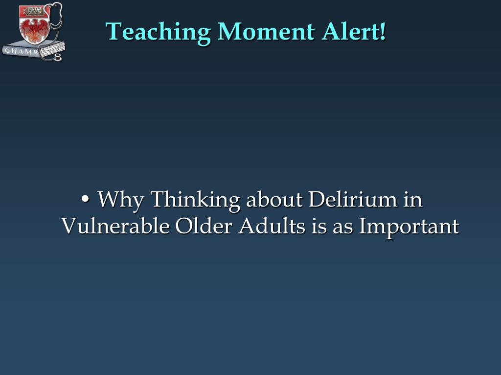 Teaching Moment Alert!
