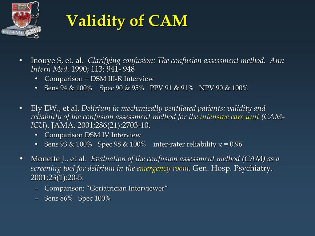 Validity of CAM