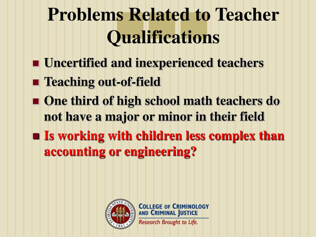 Problems Related to Teacher Qualifications