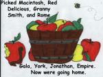 picked macintosh red delicious granny smith and rome
