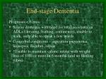 end stage dementia
