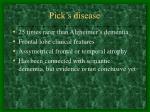 pick s disease