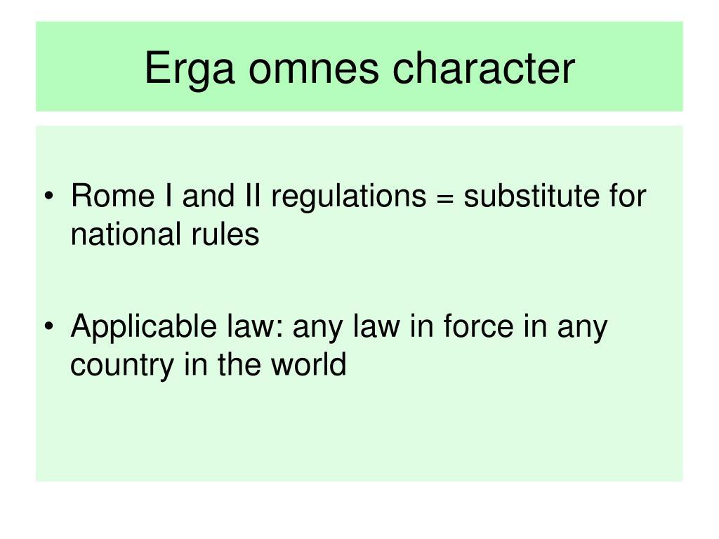 Erga omnes character