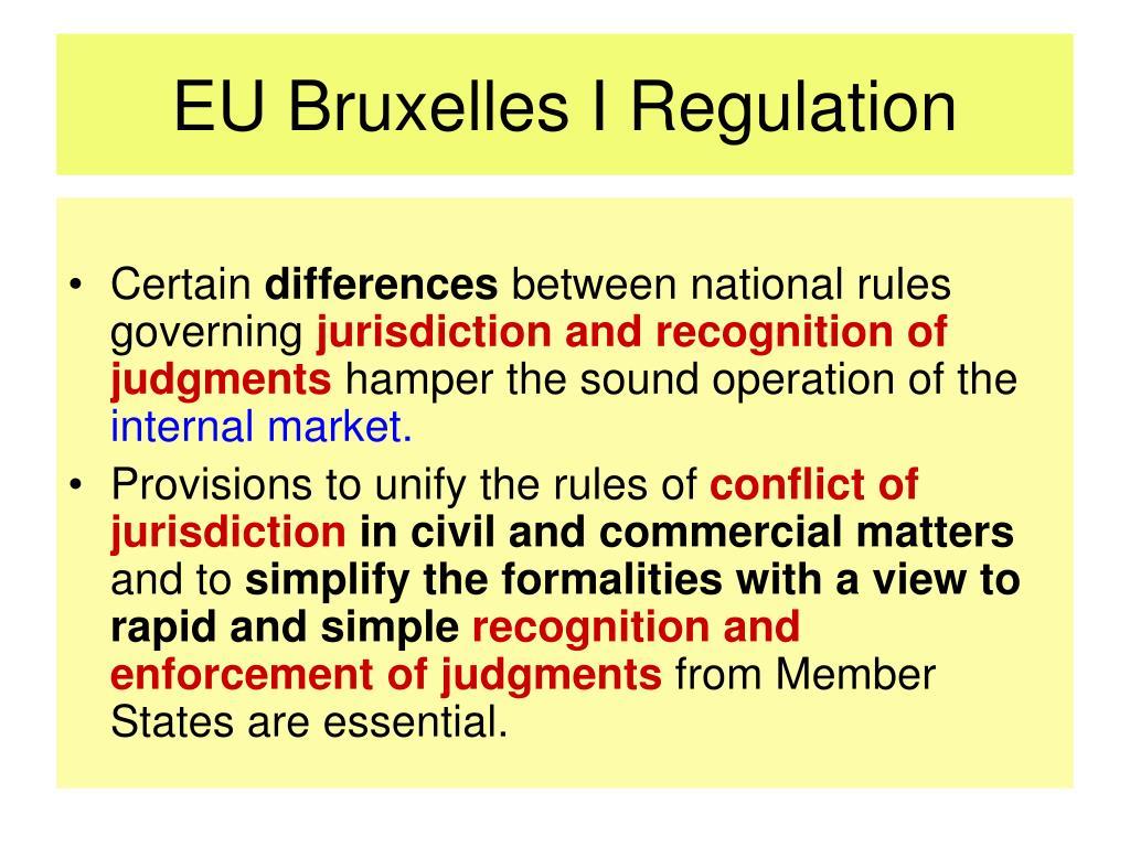 EU Bruxelles I Regulation