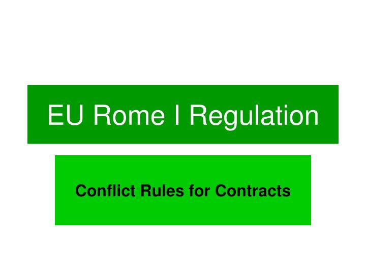 Eu rome i regulation