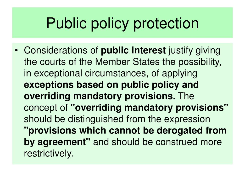 Public policy protection