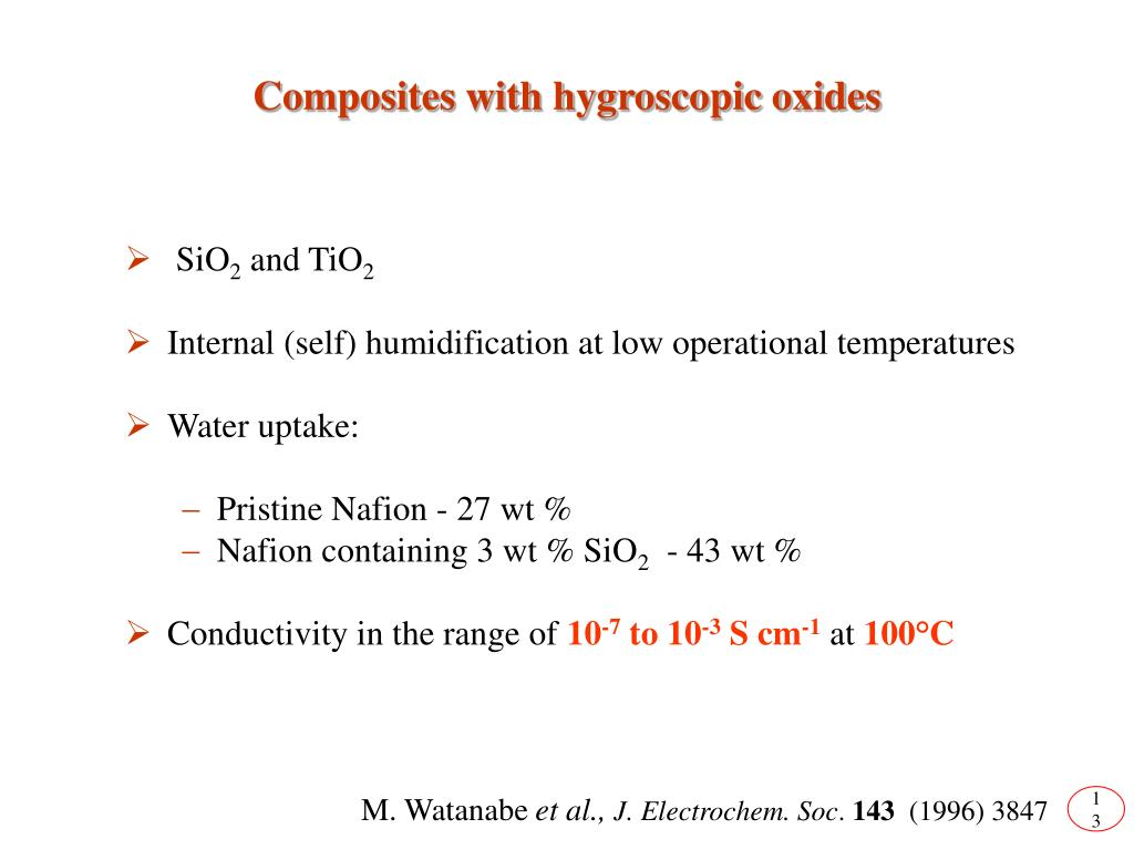 Composites with hygroscopic oxides