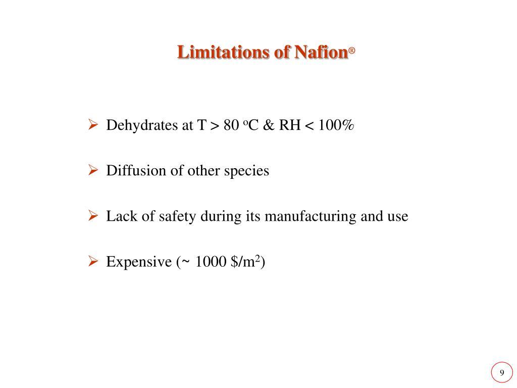 Limitations of Nafion