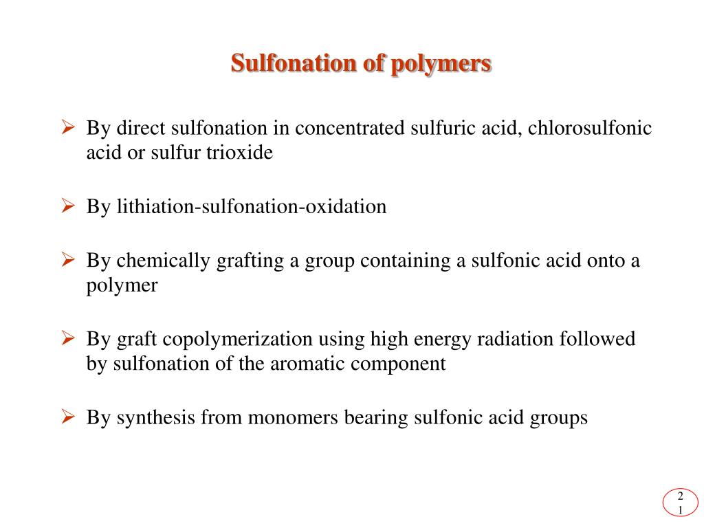 Sulfonation of polymers