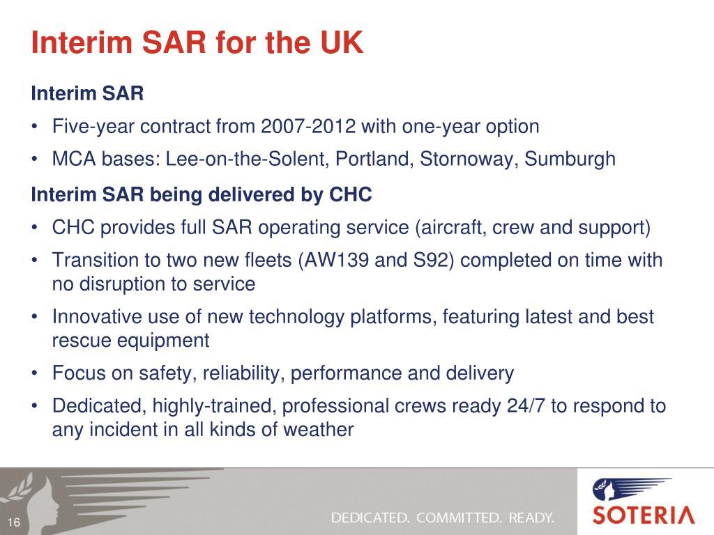 Interim SAR for the UK