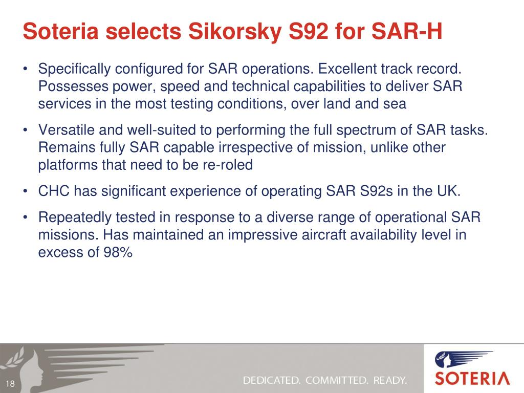 Soteria selects Sikorsky S92 for SAR-H
