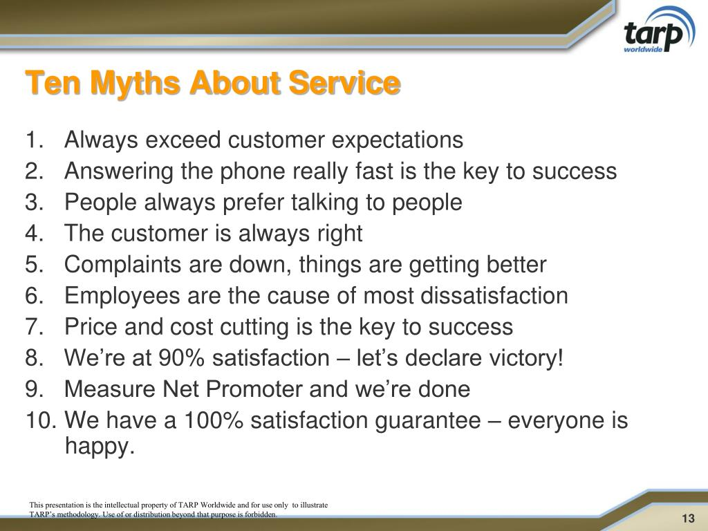 Ten Myths About Service