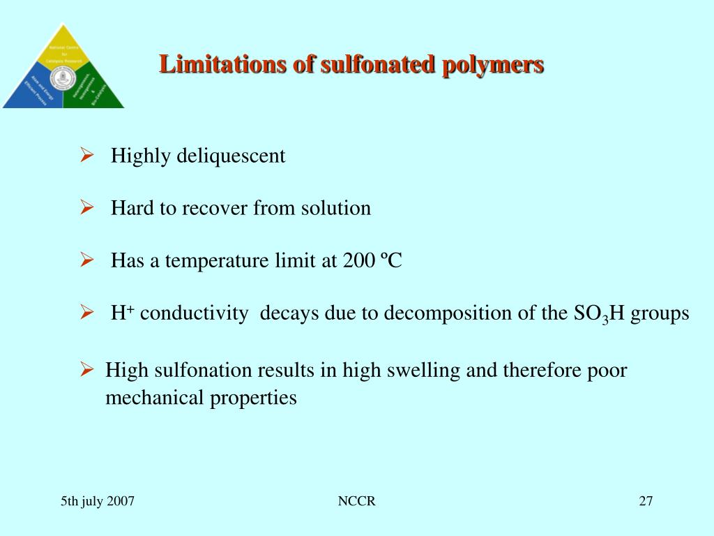 Limitations of sulfonated polymers