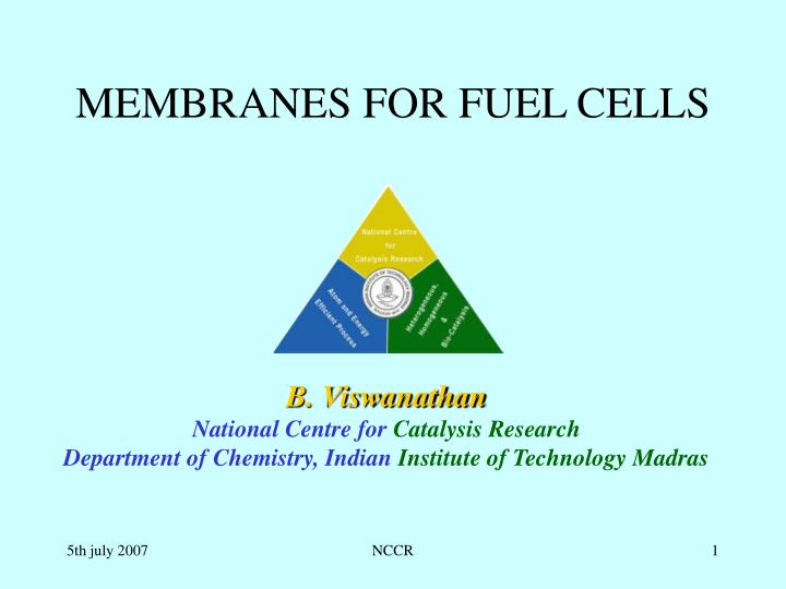 Membranes for fuel cells