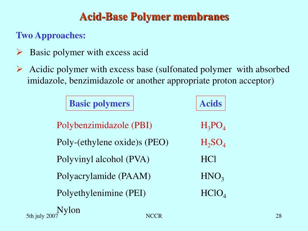Acid-Base Polymer membranes