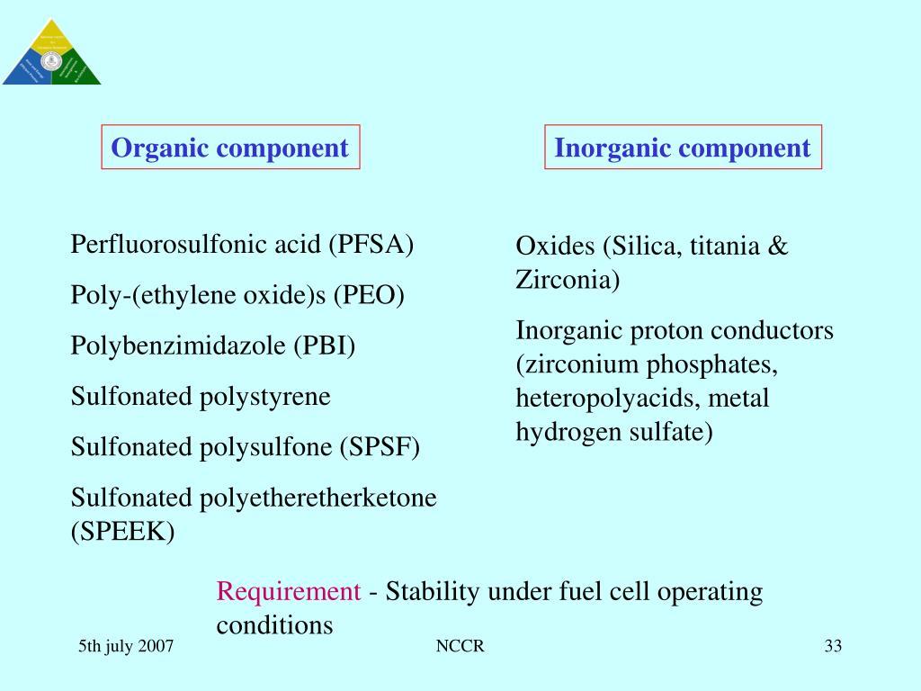 Organic component
