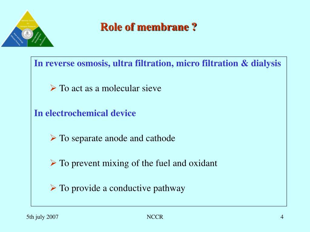 Role of membrane ?