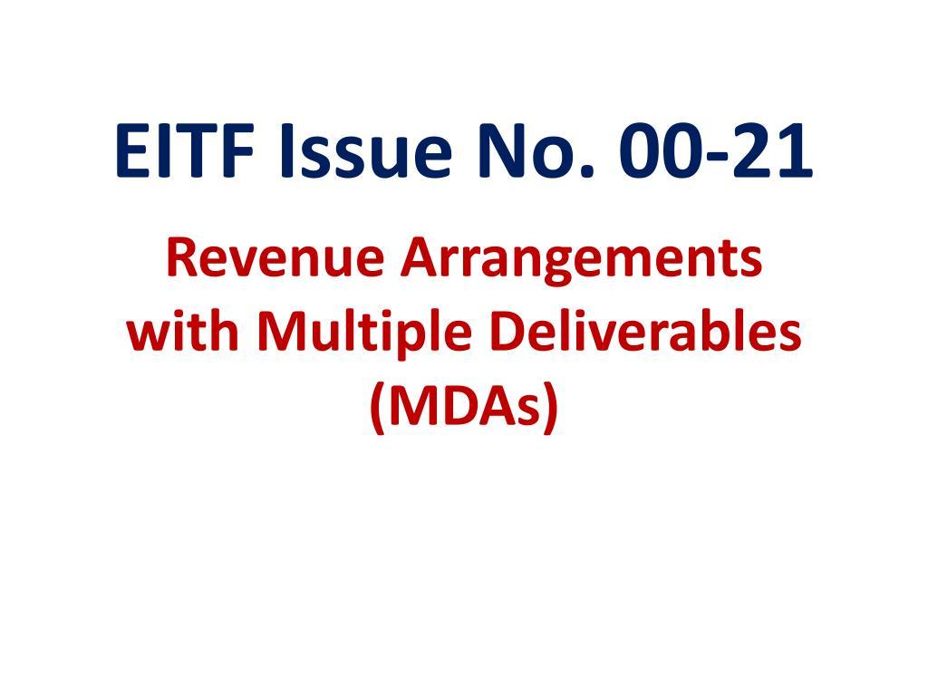 EITF Issue No. 00-21