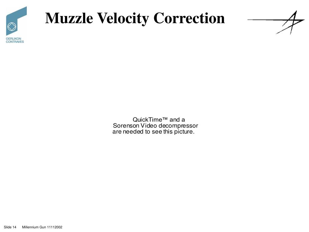 Muzzle Velocity Correction