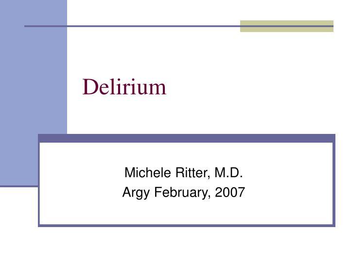 delirium n.
