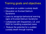 training goals and objectives