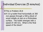 individual exercise 5 minutes