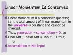 linear momentum is conserved