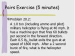 pairs exercise 5 minutes