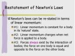 restatement of newton s laws