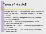terms of the uae