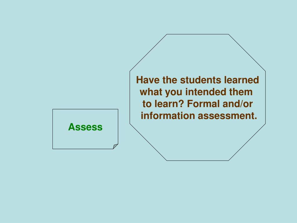 Have the students learned