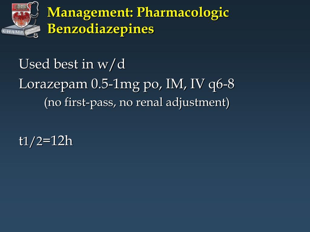 Management: Pharmacologic