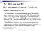 far requirements flight and navigation instruments 1 continued