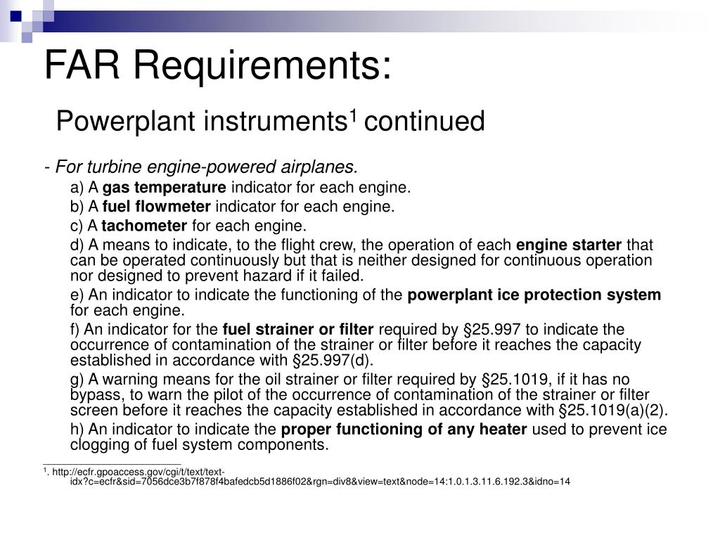 FAR Requirements: