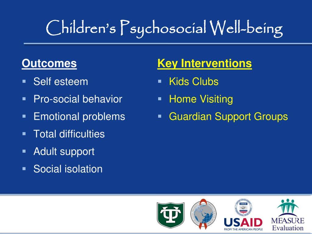 Children's Psychosocial Well-being