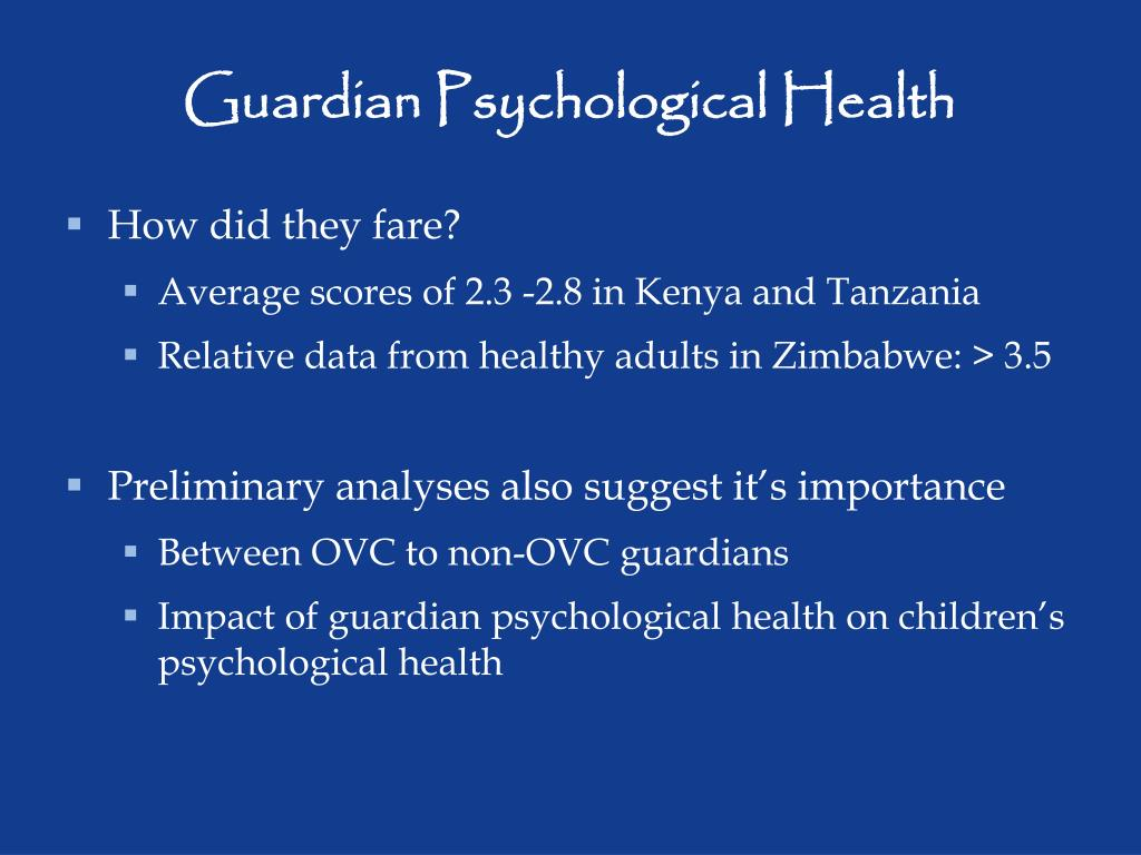 Guardian Psychological Health