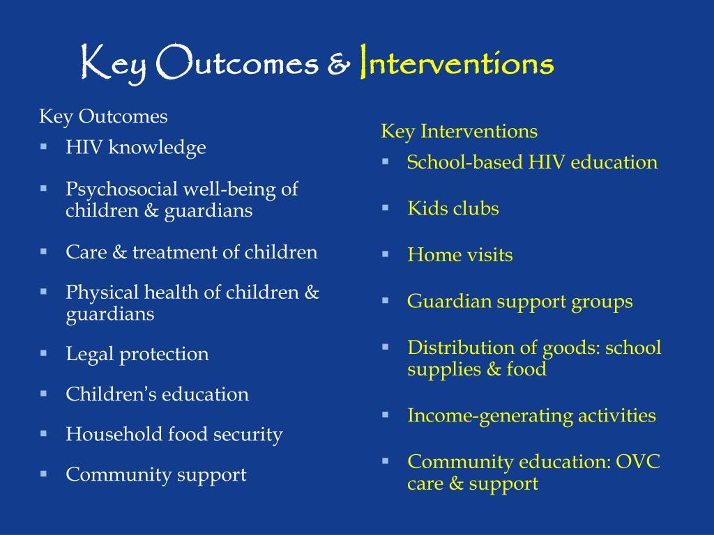Key Outcomes &