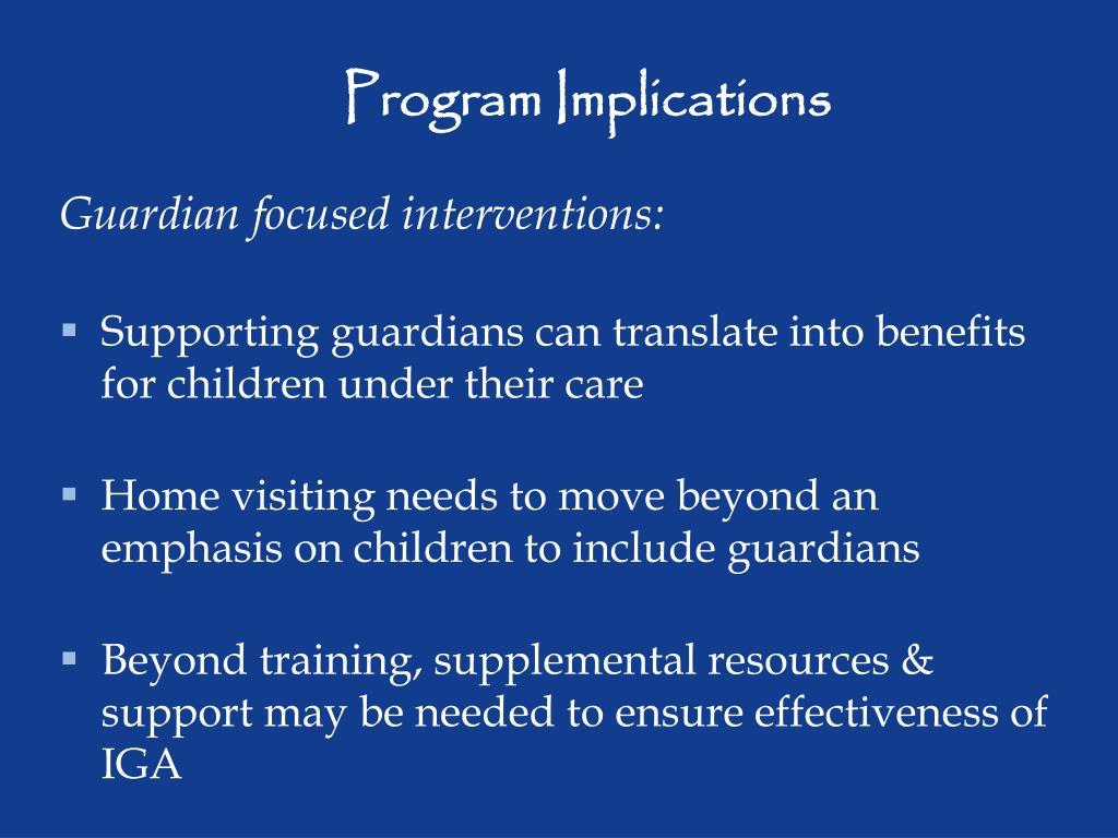 Program Implications