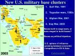 new u s military base clusters